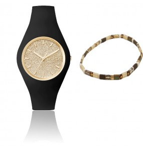 Montre ICE WATCH glitter - Black Gold - Medium - Gift box