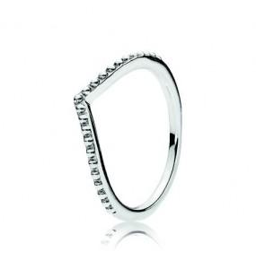 Wishbone silver ring