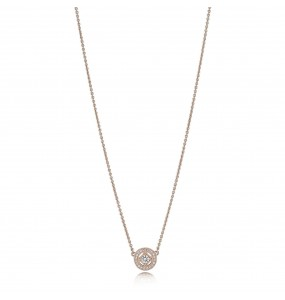 PANDORA Rose collier with clear cubic zirconia