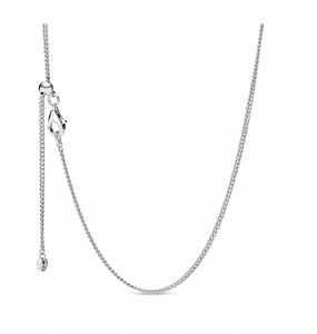 Sterling silver necklace with sliding clasp