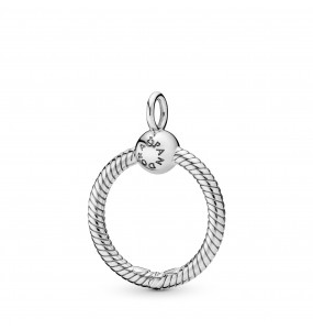 Small sterling silver O Pendant