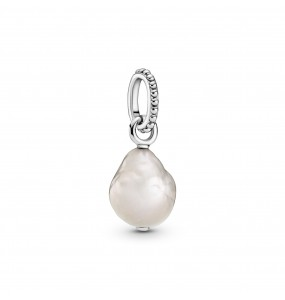 Sterling silver pendant with baroque white freshwater cultured pearl