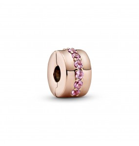 Pandora Rose clip with synthetic pink sapphire