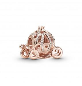Disney Cinderella pumpkin coach Pandora Rose charm with clear cubic zirconia