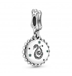 Harry Potter, Slytherin sterling silver dangle with green crystal