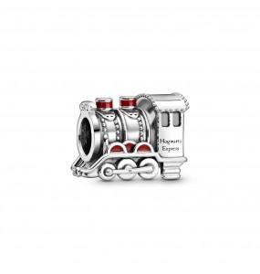 Harry Potter, Hogwarts Express sterling silver charm with red enamel