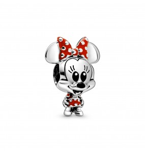 Disney Minnie sterling silver charm with red and