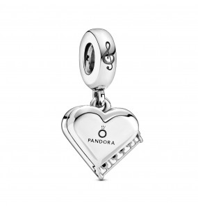 Piano sterling silver dangle with black and white enamel