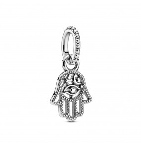 Hamsa hand sterling silver dangle